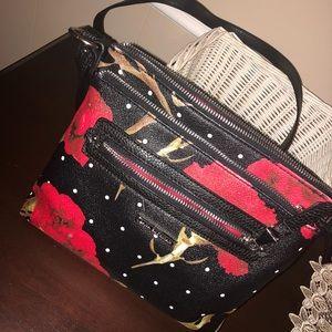 Floral crossbody purse